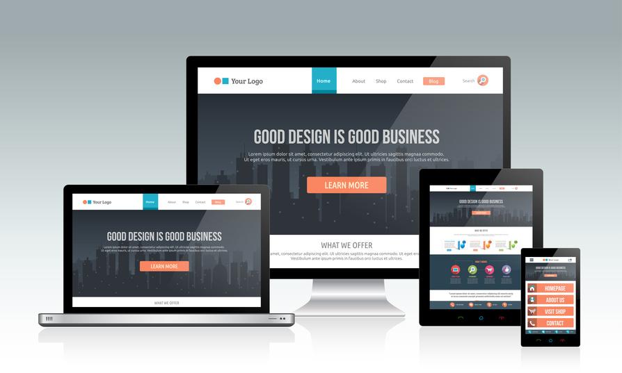 Website für Smartphone mit einem responsive Design.